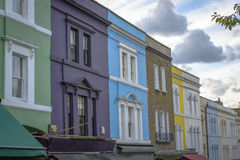 Maisons en pastel, Notting Hill - Londres Photo stock