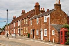Maisons en terrasse dans Hamble-le-Rlce Photo stock