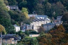 Maisons en terrasse géorgiennes sur les périphéries de Bath image stock