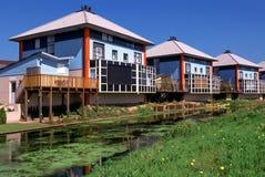 Maisons en terrasse modernes aux Pays-Bas Photographie stock