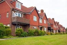 Maisons en terrasse suburbaines Photographie stock libre de droits