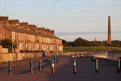 Maisons en terrasse Tweedmouth le Northumberland de bord de mer image libre de droits