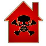 Maisons et boîtier toxiques Images libres de droits