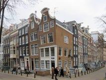 Maisons et boutiques 0949 d'Amsterdam Images libres de droits