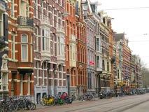 Maisons et boutiques 0988 d'Amsterdam Photos libres de droits
