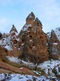 Maisons féeriques de cheminée, Cappadocia Photographie stock libre de droits