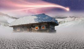 Maisons féeriques polaires Image libre de droits