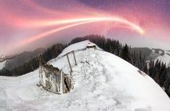 Maisons féeriques polaires Photo libre de droits
