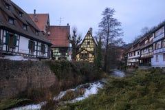 Maisons fabuleuses en Alsace photographie stock