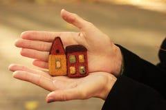 Maisons felted peu photographie stock libre de droits