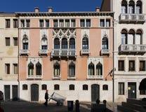 Maisons fleuries à Venise, Italie Photo libre de droits