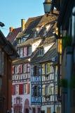Maisons françaises traditionnelles colorées dans petit Venise, Colmar Photo libre de droits