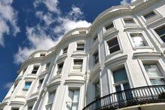Maisons géorgiennes, Brighton image libre de droits