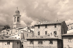 maisons habitées dans Urbania photographie stock