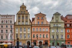 Maisons historiques au centre de Wroclaw images stock