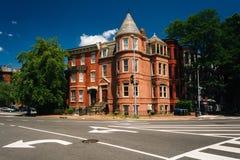 Maisons historiques chez Logan Circle, à Washington, C.C images libres de droits