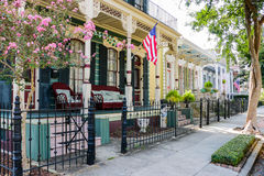 Maisons historiques de la Nouvelle-Orléans Photo libre de droits