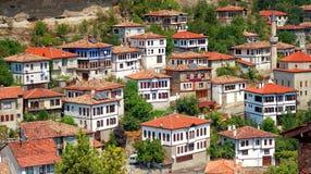 Maisons historiques de tabouret, Safranbolu, Turquie Images libres de droits