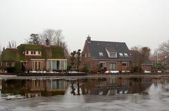 Maisons hollandaises Photos libres de droits