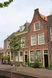 Maisons hollandaises de canal Photos stock