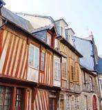 Maisons médiévales de la Normandie Tudor à Rennes, France Photographie stock