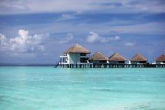 Maisons maldiviennes images stock