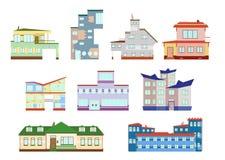 Maisons modernes réglées Images stock