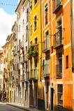 Maisons multicolores de Cuenca Photo stock