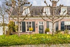 Maisons néerlandaises traditionnelles de Streetview Photo libre de droits