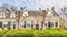 Maisons néerlandaises traditionnelles de Streetview Photo stock