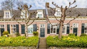 Maisons néerlandaises traditionnelles de Streetview Image stock