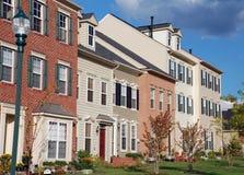 Maisons neuf établies de ville image libre de droits