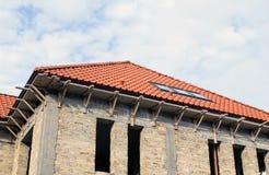 Maisons neuves étant construites Photographie stock libre de droits