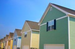 Maisons neuves photo stock