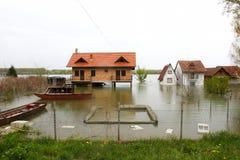 Maisons noyées Photos stock