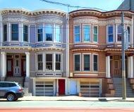 2 maisons peintes de dames à San Francisco Photos stock