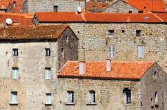 Maisons pierreuses, Corse Image libre de droits