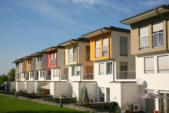 Maisons résidentielles Images stock
