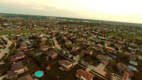 Maisons résidentielles de vue aérienne de frais généraux ci-dessus illustration libre de droits