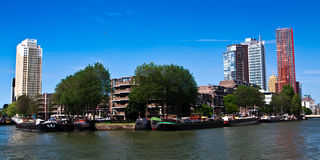 Maisons résidentielles. Le centre de Rotterdam Image stock