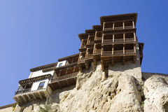 Maisons s'arrêtantes, Cuenca, Castille-La Mancha, Espagne Images stock