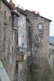 Maisons, Saint-Flour (France ) Stock Image