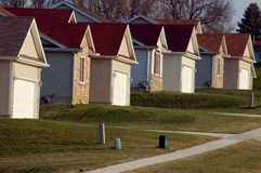 Maisons suburbaines Images libres de droits