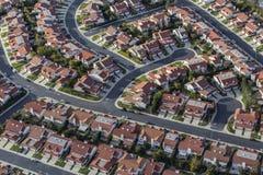 Maisons suburbaines du sud aériennes de la Californie photos stock