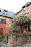 Maisons traditionnelles, Collonges-la-Rouge ( France ) Stock Image