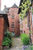 Maisons traditionnelles, collonges-La-Rouge (Frankrijk) royalty-vrije stock afbeelding