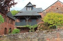 Maisons traditionnelles, Collonges-la-rouge (Frankrike) Arkivfoton