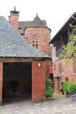 Maisons traditionnelles, Collonges-la-rouge (Frankrike) Royaltyfri Fotografi