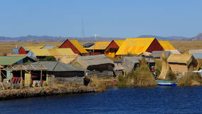 Maisons traditionnelles, Puno, Pérou images libres de droits