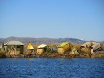 Maisons traditionnelles, Puno, Pérou Photographie stock